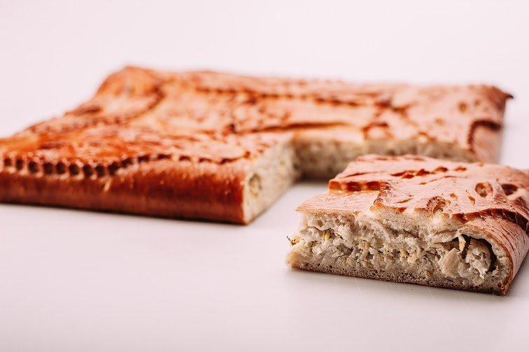 Пирог с треской и сливочным сыром